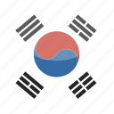 circle, flag, gloss, korea, south icon