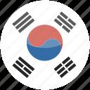 south, circle, gloss, flag, korea