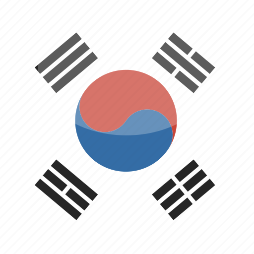 Circle flag gloss korea south icon - Picture of a korean flag ...