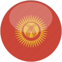 circle, flag, gloss, kyrgyzstan icon