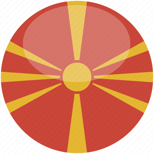 circle, flag, gloss, macedonia icon