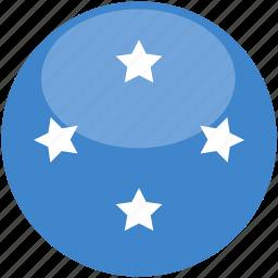 circle, flag, gloss, micronesia icon