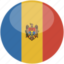 circle, gloss, flag, moldova