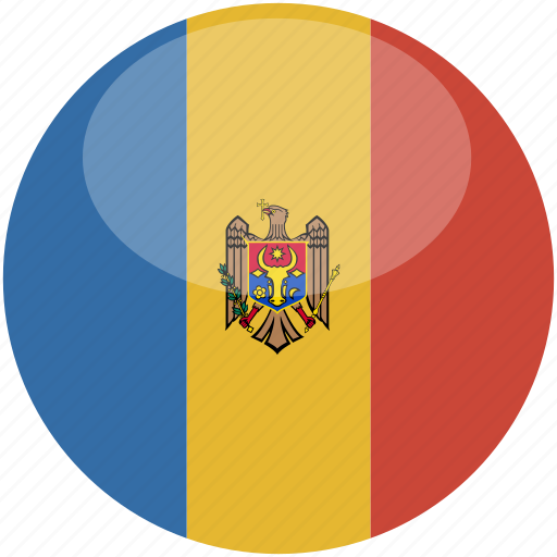 circle, flag, gloss, moldova icon