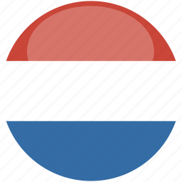 circle, flag, gloss, netherlands icon