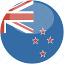 zealand, new, circle, gloss, flag