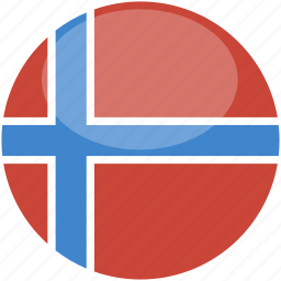 circle, flag, gloss, norway icon