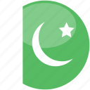 circle, flag, gloss, pakistan icon