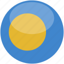 circle, gloss, palau, flag