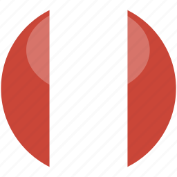 circle, flag, gloss, peru icon
