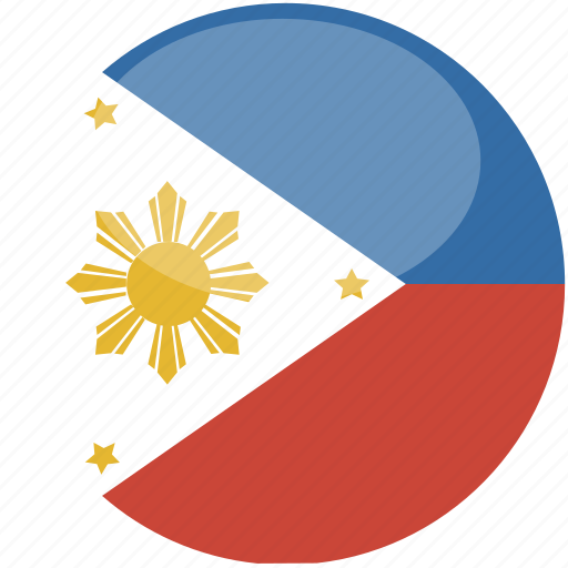 circle, flag, gloss, phillipines icon