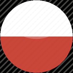 circle, flag, gloss, poland icon