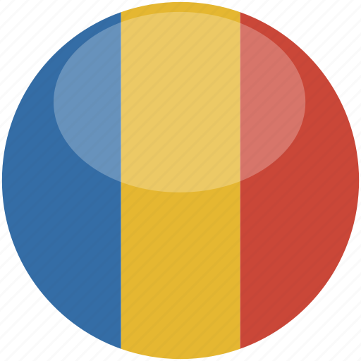circle, flag, gloss, romania icon