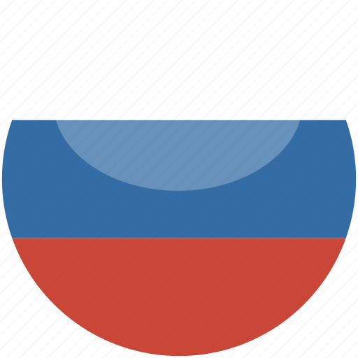 circle, flag, gloss, russia icon