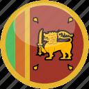 srilanka, circle, gloss, flag