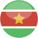 circle, gloss, flag, suriname