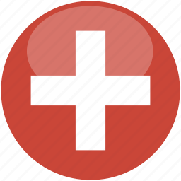 circle, flag, gloss, switzeland icon