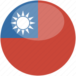 circle, flag, gloss, taiwan icon