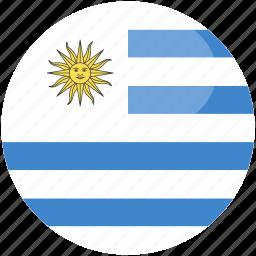 circle, flag, gloss, uruguay icon