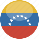 circle, flag, gloss, venezuela icon