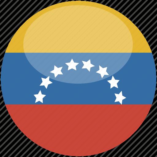 circle, flag, gloss, venezuela icon
