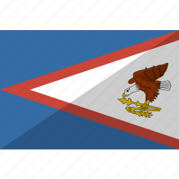 american, country, flag, nation, samoa icon