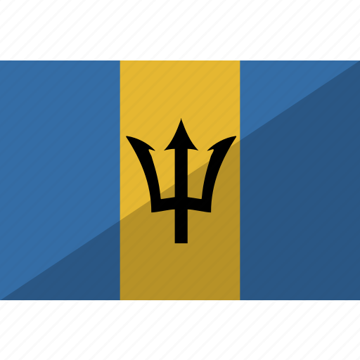 barbados, country, flag, nation icon