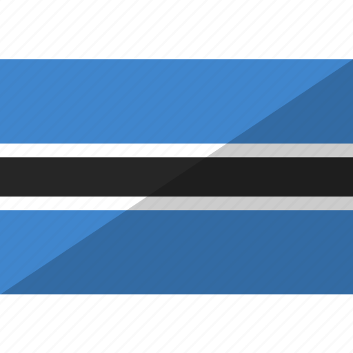 botswana, country, flag, nation icon