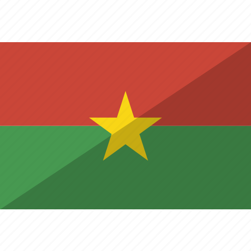 burkina, country, faso, flag, nation icon