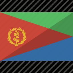 country, eritrea, flag, nation icon