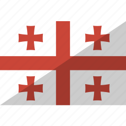 country, flag, georgia, nation icon