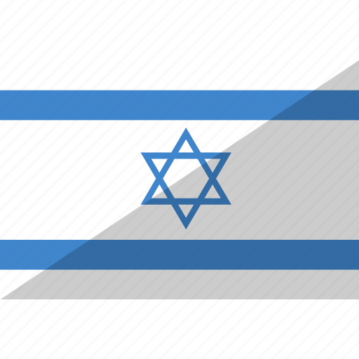 country, flag, israel, nation icon