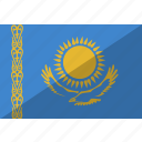 country, flag, kazakhstan, nation