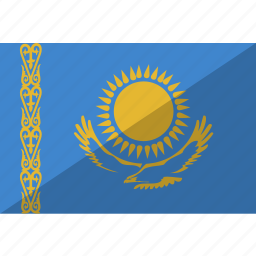 country, flag, kazakhstan, nation icon