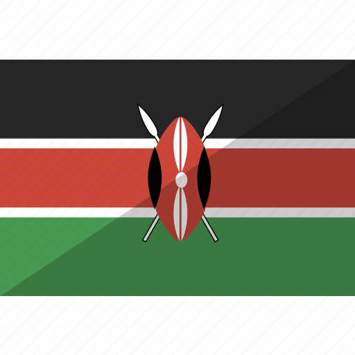 country, flag, kenya, nation icon