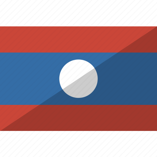 country, flag, laos, nation icon
