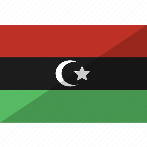 country, flag, libya, nation icon