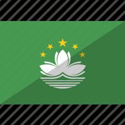 country, flag, macau, nation icon