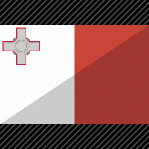 country, flag, malta, nation icon