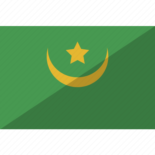 country, flag, mauritania, nation icon