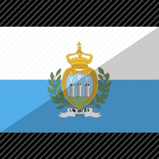 country, flag, marino, nation, san icon
