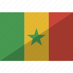country, flag, nation, senegal icon
