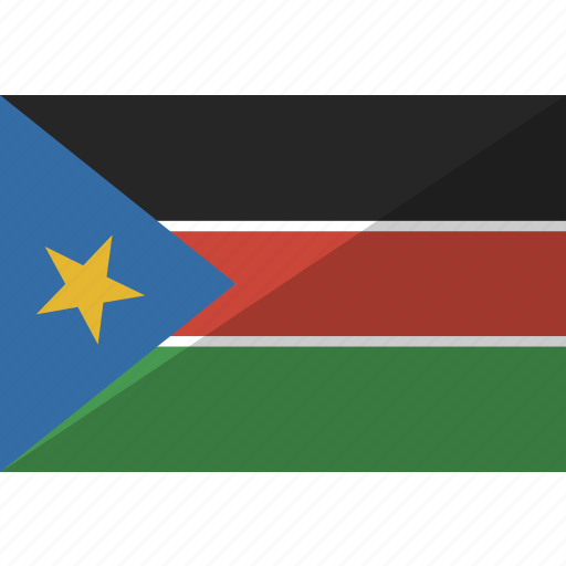 country, flag, nation, south, sudan icon