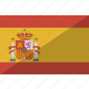 country, flag, spain, nation icon