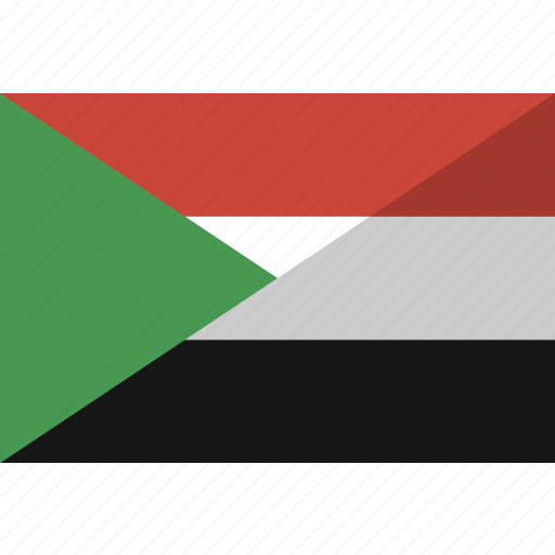 country, flag, nation, sudan icon