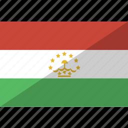 country, flag, nation, tajikistan icon