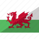 country, flag, nation, wales icon