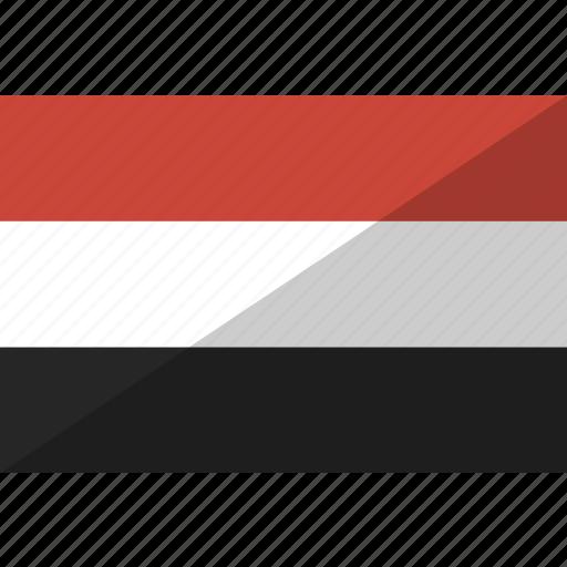 country, flag, nation, yemen icon