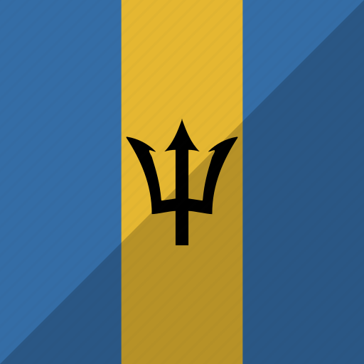 barbados, country, flag, nation icon