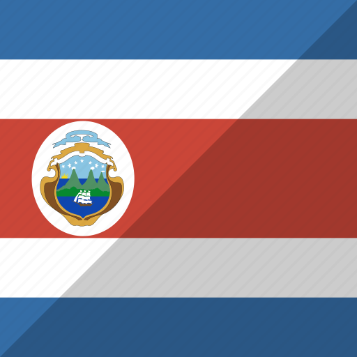 costa, country, flag, nation, rica icon